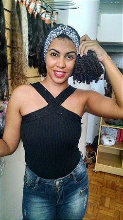 Cabelo Humano Cacheado Black de 25 centimetros ( cada 100 gramas )