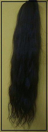 Aplique de Rabo Humano leve ondas (60 cm)