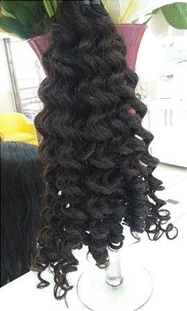 cabelo cacheado humano 65 cm