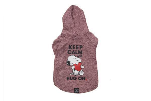 Moletom Vinho Snoopy Hug On