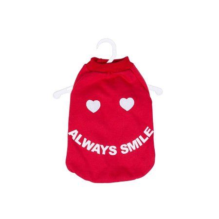 Casaco Moletom Always Smille Vermelho