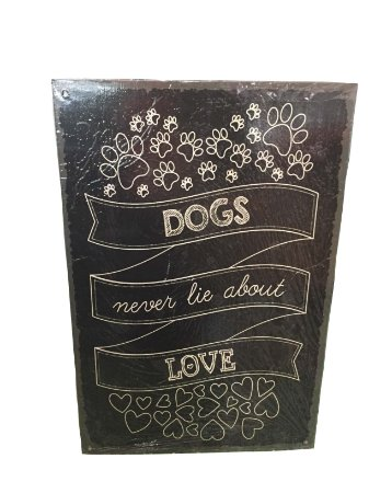 Placa Dogs Never Lie