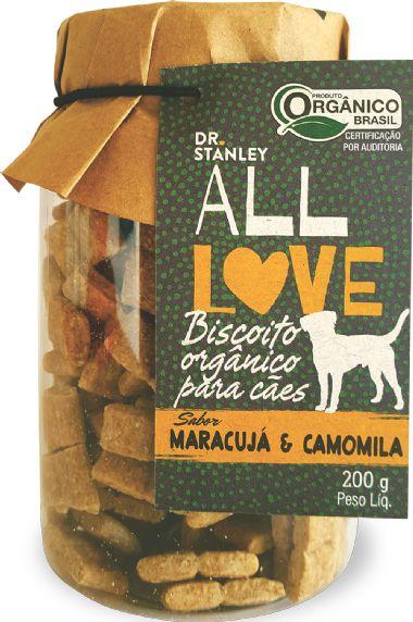 Biscoito Orgânico ALL LOVE Maracujá e Camomila 200gr