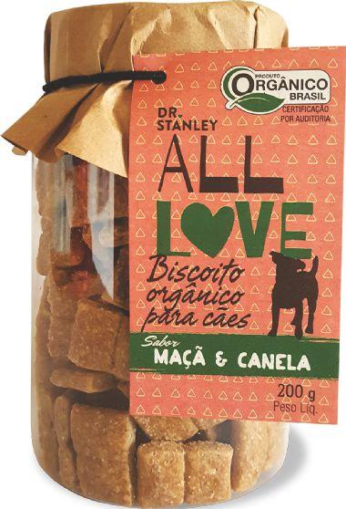 Biscoito Orgânico ALL LOVE Maçã e Canela 200gr