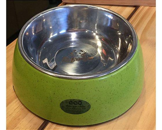 Comedouro de Fibra com Aço Inox Verde