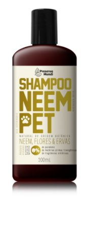 Shampoo Neem Pet - Neem, Flores & Ervas 180 ml