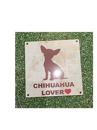 Placa Lover Chihuahua