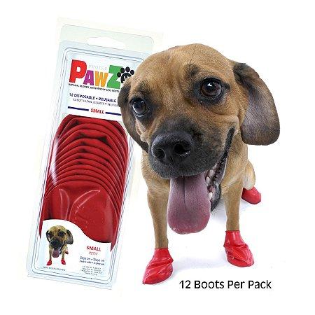 Botas Para Cachorros Pawz Small Vermelho