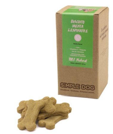 Biscoito Simple Dog Menta e Espinafre 150g