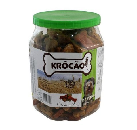 Krocão Biscoito Integral Ossinho Mini 1Kg
