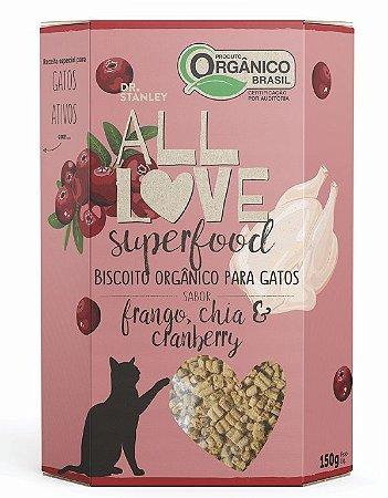 Biscoito Orgânico Frango, Chia e Cranberry 150gr