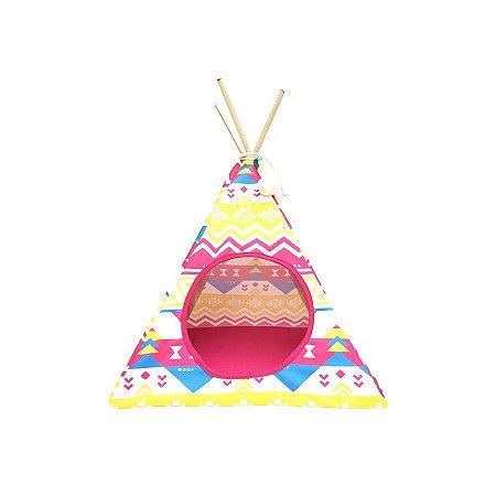 Cabana Apache Étnico para Gatos Pink