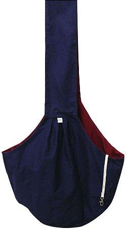 Bolsa Sling Azul Marinho e Vermelho