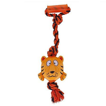 BrinquedoTuggerz Tigre de Pelúcia com Corda