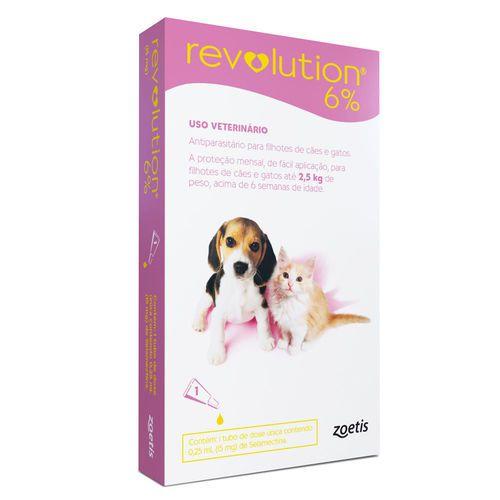 Revolution 6% Filhotes para Cães e Gatos Até 2,5Kg