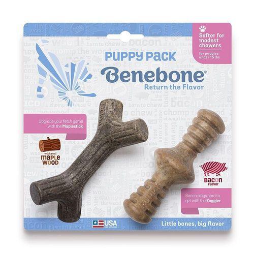Benebone Puppy 2 Pack Maple Zaggler