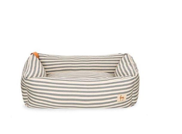 Cama Retangular Stripes Cinza