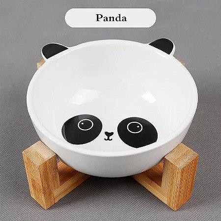 Comedouro em Cerâmica Panda