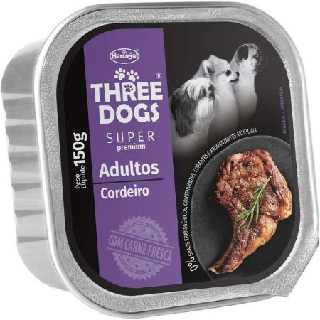 Three Dogs Adulto Cordeiro 150gr