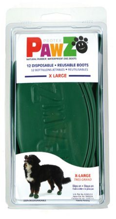 Botas Para Cachorros Pawz XL Verde (4 unid)