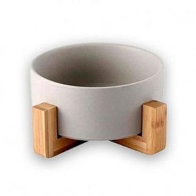 Comedouro Wood Cinza