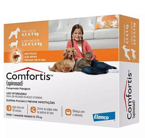 Comfortis 270mg  para Cães 4,5 a 9kg  e Gatos 2,8 A 5,4kg