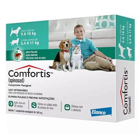 Confortis 560mg para Cães 9 a 18kg e Gatos 5,4 A 11kg