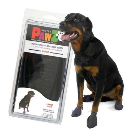 Botas Para Cachorros Pawz L Preta  (4 unid)