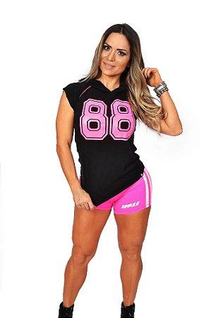 Regata de Capuz Fitness Feminina Estampa Rosa - INSANO - Roupas pra ... 60a3fca26dd