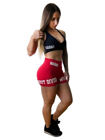 Shorts Cós Reto Workout Division
