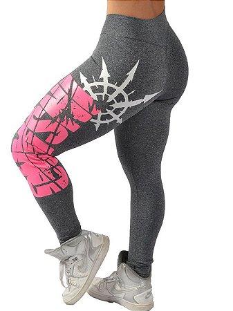 Legging Cós V Estampa Rosa