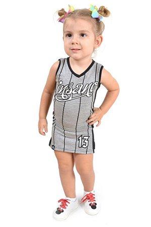 Vestido Infantil Basket Feminino