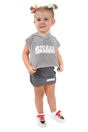 Regata Infantil Capuz Cropped Destroyer