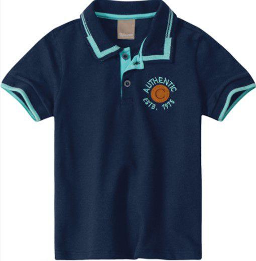 Camisa Polo Infantil Azul Marinho - Malwee