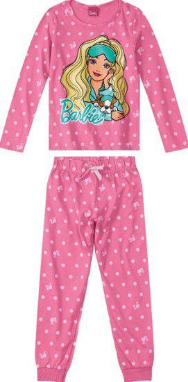 Pijama Infantil Barbie Rosa - Malwee