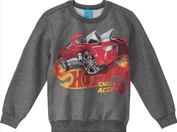 Moletom Infantil Hot Wheels Cinza - Malwee