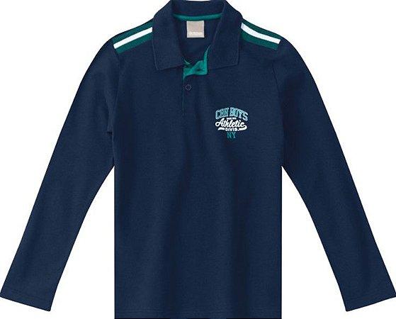 Camisa Polo Juvenil Azul Marinho - Malwee