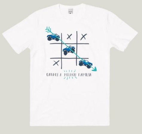 Camiseta Adulto Masculina Branca Coleção Família  - Malwee