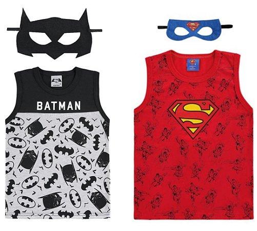 Kit Infantil Super Herói - 2 Regatas com Máscara - Marlan