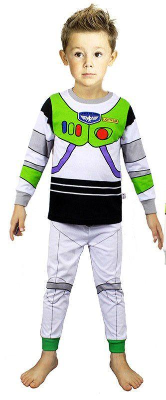 Pijama do Buzz Lightyear (Toy Story) - Branco e Verde