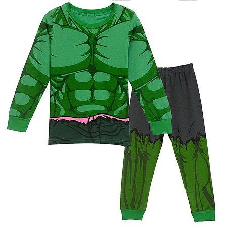 Pijama do Incrível Hulk - Verde e Cinza