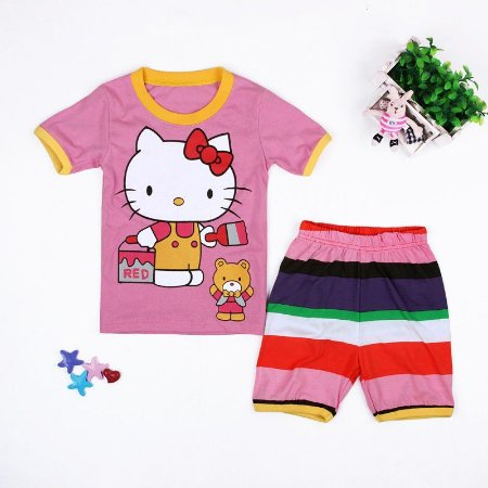 Pijama da Hello Kitty - Rosa Listrado
