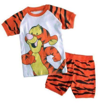 Pijama do Tigrão - Laranja e Preto