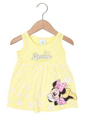Vestido da Minnie Floral - Amarelo e Branco - Brandili
