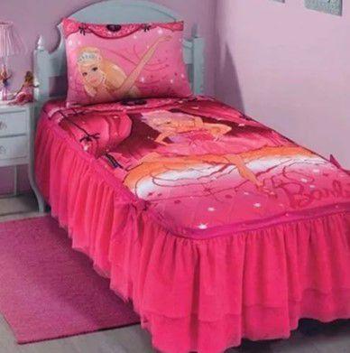 a6eae26ff Kit Colcha Solteiro da Barbie Baliarina - AmoPersonagem