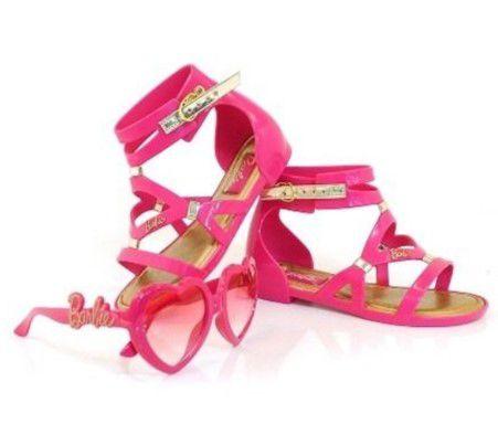 Sandália da Barbie - Rosa - Brinde