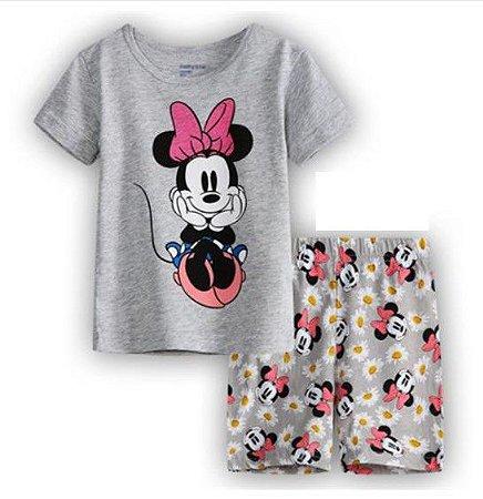 Pijama da Minnie - Cinza, Rosa e Bege