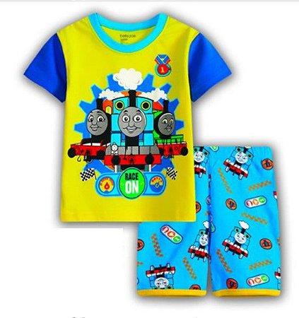 Pijama do Thomas Trem - Amarelo e Azul