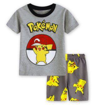 Pijama do Pokémon - Cinza e Amarelo