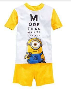 Pijama dos Minions - Amarelo e Branco